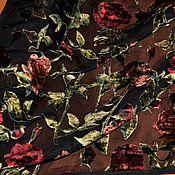 """Ткани ручной работы. Ярмарка Мастеров - ручная работа Ткань Бархат с розами """"Dolce&Gabbana"""", Италия. Handmade."""
