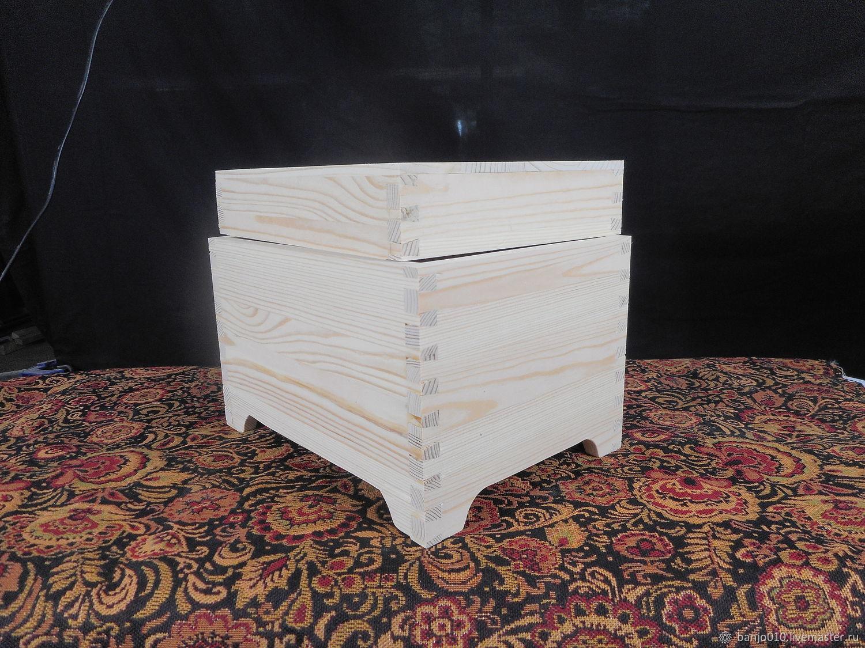Ящик с крышкой заготовка из дерева, Заготовки для декупажа и росписи, Люберцы,  Фото №1