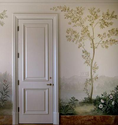 Декор поверхностей ручной работы. Ярмарка Мастеров - ручная работа. Купить роспись стены-деревце,декор прихожей. Handmade.