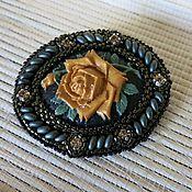 Украшения handmade. Livemaster - original item Beaded decoration. Beaded brooch
