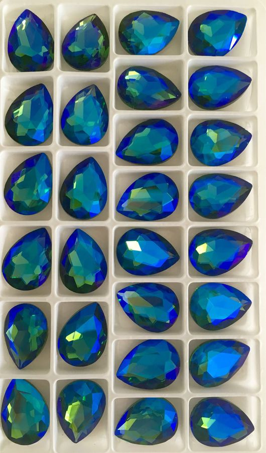 Для украшений ручной работы. Ярмарка Мастеров - ручная работа. Купить Кристаллы (saphire). Handmade. Стразы, стразы стеклянные, кристаллы