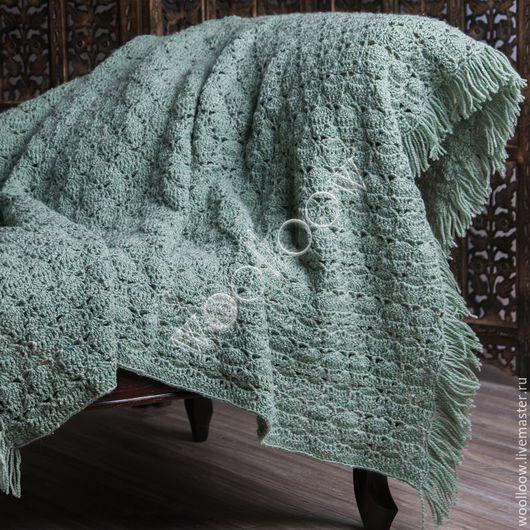 Текстиль, ковры ручной работы. Ярмарка Мастеров - ручная работа. Купить Плед Зелень Прованса. Handmade. Плед, плед вязаный