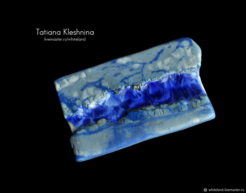 Фарфоровая пластина с кристаллической глазурью, Кабошоны, Нижнеангарск,  Фото №1