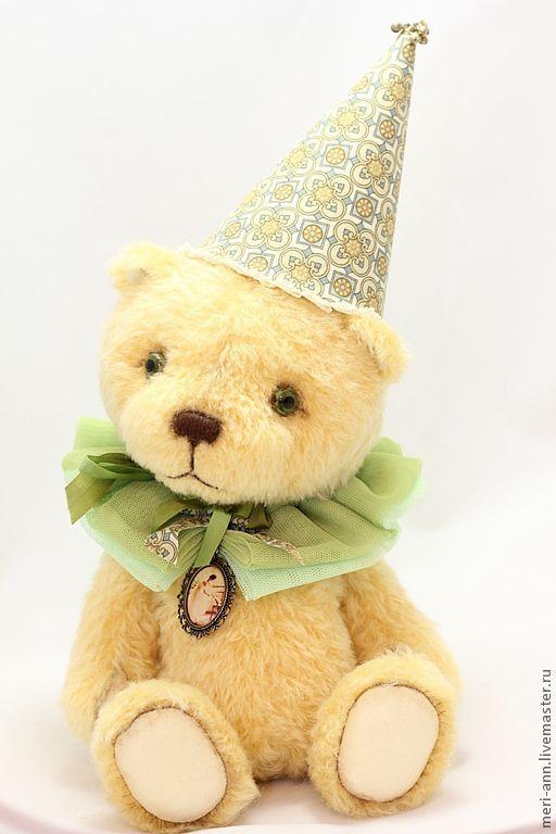 Мишки Тедди ручной работы. Ярмарка Мастеров - ручная работа. Купить Дарси. Handmade. Желтый, мишка клоун, металлические бубенчики