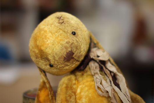 Мишки Тедди ручной работы. Ярмарка Мастеров - ручная работа. Купить Августин.. Handmade. Желтый, плюш винтажный