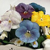 Цветы и флористика handmade. Livemaster - original item Pansy viola.Bouquet of pansies.Modeling.Polymer clay.. Handmade.
