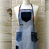 handmade. Livemaster - original item aprons: Blue denim apron. Handmade.