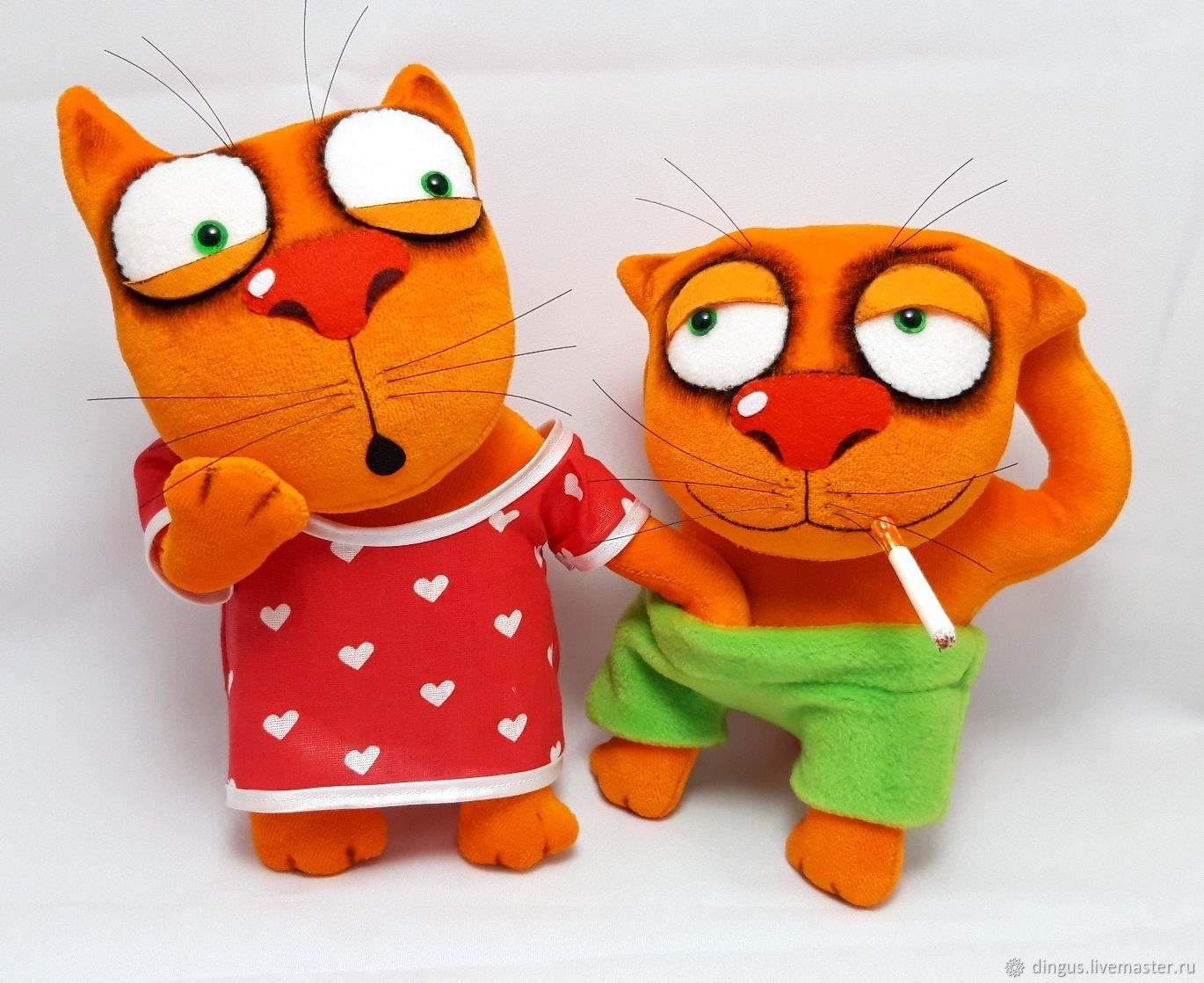Everything is clear? Soft toys plush red cats Vasya Lozhkina, Stuffed Toys, Moscow,  Фото №1