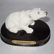 Предметы интерьера винтажные ручной работы. Ярмарка Мастеров - ручная работа Мишка белый медведь фарфор 6. Handmade.
