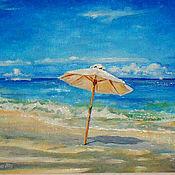 Картины и панно ручной работы. Ярмарка Мастеров - ручная работа Картина Море гриб любовь :). Handmade.