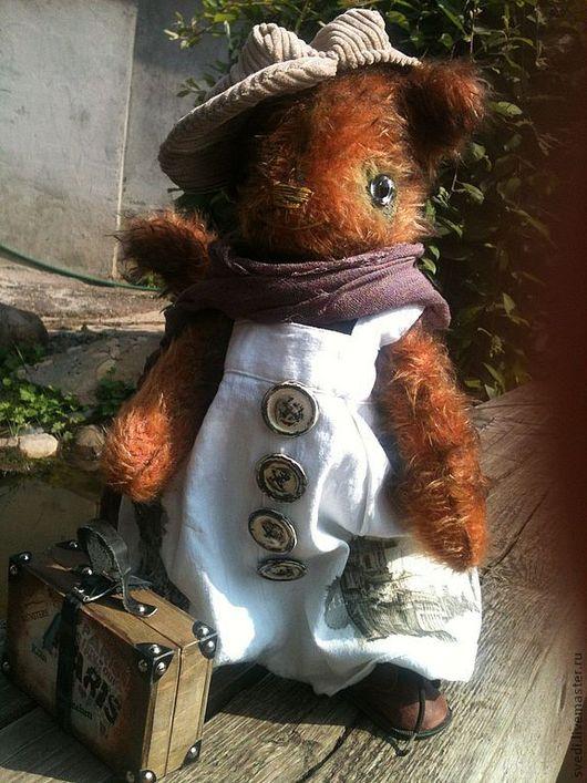 """Мишки Тедди ручной работы. Ярмарка Мастеров - ручная работа. Купить тедди кот """" Путешественник"""". Handmade. Рыжий, шарф"""