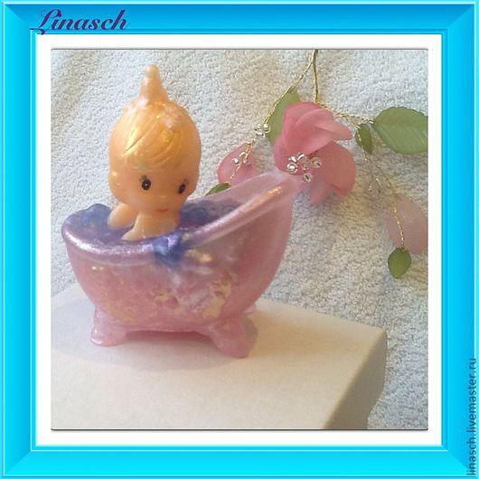 Мыло ручной работы. Ярмарка Мастеров - ручная работа. Купить Девочка в ванне. Handmade. Бежевый, мыло в подарок