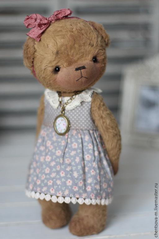 Мишки Тедди ручной работы. Ярмарка Мастеров - ручная работа. Купить Тося. Handmade. Мишка, мишка девочка, опилки