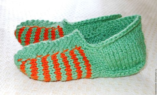 """Обувь ручной работы. Ярмарка Мастеров - ручная работа. Купить Домашние тапочки-следочки-носочки """"Теплые ножки"""". Handmade."""