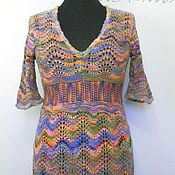 Одежда handmade. Livemaster - original item Openwork knit tunic (pullover) style Missoni. Handmade.
