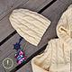 Одежда унисекс ручной работы. комплект детский: свитер с капюшоном и шапочка. mini.cactus. Интернет-магазин Ярмарка Мастеров. Однотонный
