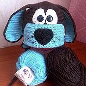 Работы для детей, ручной работы. Ярмарка Мастеров - ручная работа шапочка-собачка для мальчика. Handmade.