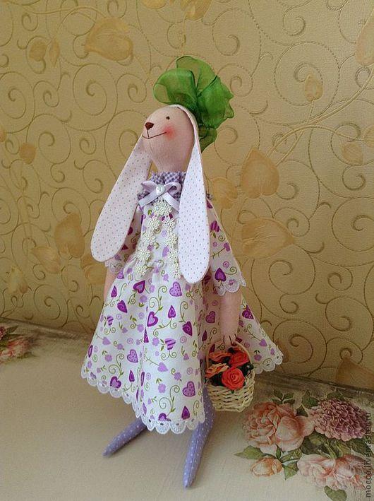 Куклы Тильды ручной работы. Ярмарка Мастеров - ручная работа. Купить текстильная Зайка. Handmade. Подарок, игрушка на заказ