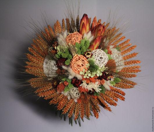 Букеты ручной работы. Ярмарка Мастеров - ручная работа. Купить Букет из сухоцветов. Handmade. Рыжий, сухоцветы, лагурус, декор интерьера