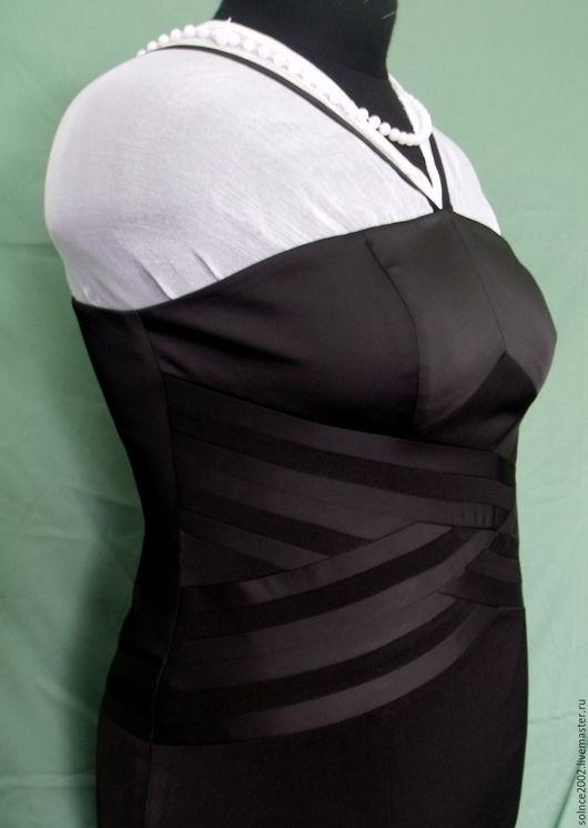 Платья ручной работы. Ярмарка Мастеров - ручная работа. Купить Черное платье из костюмной ткани. Handmade. Индивидуальный пошив