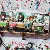 """Для дома и интерьера ручной работы. Ярмарка Мастеров - ручная работа Шкатулка """"Алиса в Стране чудес"""".. Handmade."""