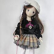 Куклы и игрушки handmade. Livemaster - original item Doll with dog, Schoolgirl. Interior, collection. Handmade.