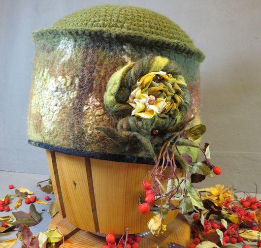 Шапки ручной работы. Ярмарка Мастеров - ручная работа. Купить шапка валяная Превращение лягушки в царевну. Handmade. Хаки