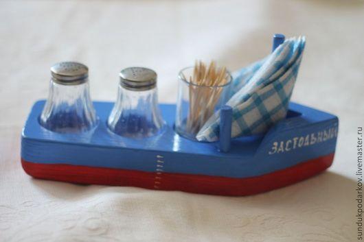 """Кухня ручной работы. Ярмарка Мастеров - ручная работа. Купить Подставка для специй """"Застольный"""". Handmade. Синий, специи, дерево"""
