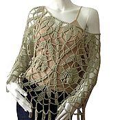 """Одежда ручной работы. Ярмарка Мастеров - ручная работа пончо """"Дафна"""". Handmade."""