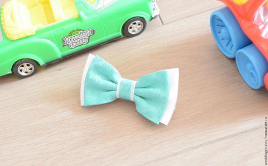 """Галстуки, бабочки ручной работы. Ярмарка Мастеров - ручная работа. Купить Детская бабочка-галстук """"Мятный день"""". Handmade. Мятный"""