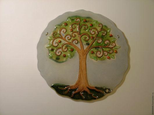 Персональные подарки ручной работы. Ярмарка Мастеров - ручная работа. Купить панно Мандариновое дерево керамика. Handmade. Подарок, удача