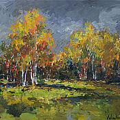 Картины и панно handmade. Livemaster - original item Autumn Forest Edge - Original landscape painting. Handmade.