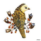 Украшения handmade. Livemaster - original item Brooch - bird