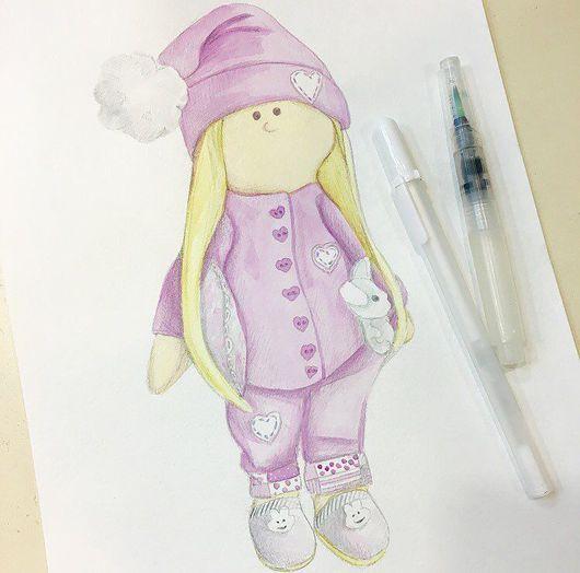 Иллюстрации ручной работы. Ярмарка Мастеров - ручная работа. Купить Иллюстрация ваших куколок. Handmade. Кукла, кукла ручной работы