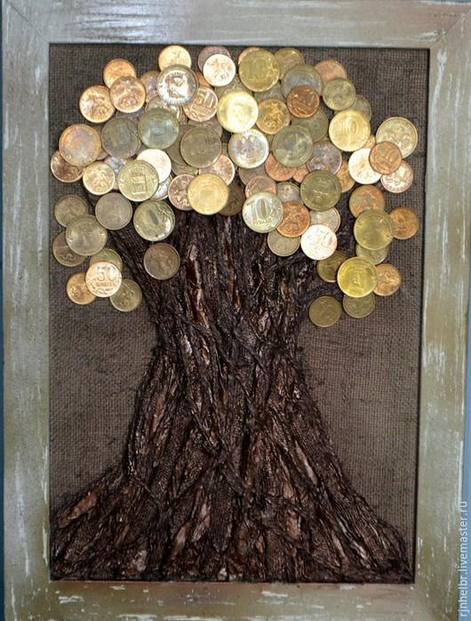 Символизм ручной работы. Ярмарка Мастеров - ручная работа. Купить денежное дерево-символ богатства подарок на день рождения. Handmade.