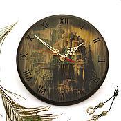 """Для дома и интерьера ручной работы. Ярмарка Мастеров - ручная работа Часы настенные """"Олимп"""". Handmade."""