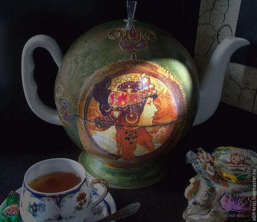 Чайники, кофейники ручной работы. Ярмарка Мастеров - ручная работа. Купить Чайник а-ля Модерн. Handmade. Разноцветный