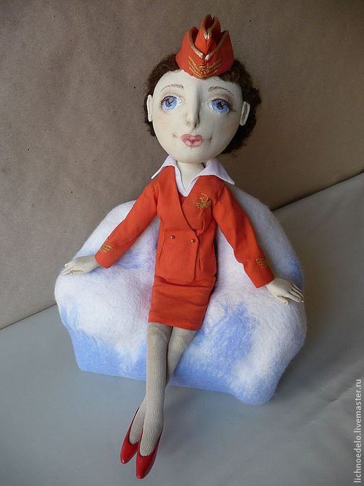 Коллекционные куклы ручной работы. Ярмарка Мастеров - ручная работа. Купить Она улетела на Кубу....Кукла из грунтованного текстиля. Handmade.