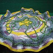 Для дома и интерьера ручной работы. Ярмарка Мастеров - ручная работа коврик вязаный Лабиринт зеленой лианы. Handmade.