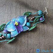 Украшения ручной работы. Ярмарка Мастеров - ручная работа Браслет Орхидея. Handmade.