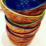 Посуда ручной работы. Ярмарка Мастеров - ручная работа Фактурные керамические мисочки ручной работы. Handmade.