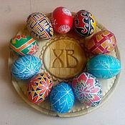 Подарки к праздникам ручной работы. Ярмарка Мастеров - ручная работа Тарелочка для пасхальных яиц. Handmade.