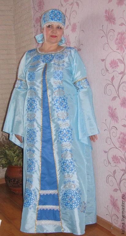 """Платья ручной работы. Ярмарка Мастеров - ручная работа. Купить Платье """"Зарислава"""". Handmade. Голубой, платье на заказ, платье"""