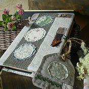 """Канцелярские товары ручной работы. Ярмарка Мастеров - ручная работа """"Полевые цветы"""" текстильная обложка. Handmade."""