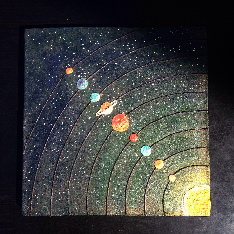 universe solar system paintings art - 736×736