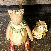 Куклы и игрушки ручной работы. Ярмарка Мастеров - ручная работа Кошка-Тильда Поля. Handmade.
