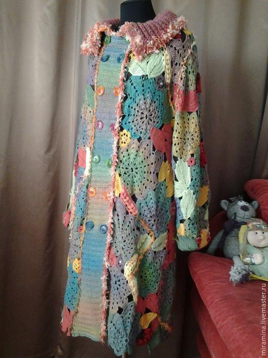 Верхняя одежда ручной работы. Ярмарка Мастеров - ручная работа. Купить Пальто Наталья -2. Handmade. Разноцветный, ирландское кружево