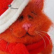 """Куклы и игрушки ручной работы. Ярмарка Мастеров - ручная работа Котик и змейка """"Персик и Ричи"""". Handmade."""