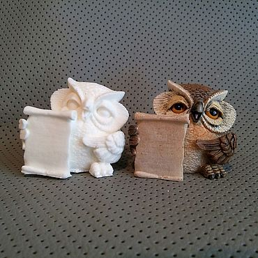 Материалы для творчества ручной работы. Ярмарка Мастеров - ручная работа Сова со свитком. Handmade.