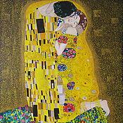 Картины ручной работы. Ярмарка Мастеров - ручная работа Поцелуй копия картина Густава Климта Поцелуй, масло, холст. Handmade.